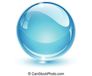 Glass sphere blue