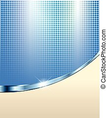 Abstract blue background with dotted pattern illustration.