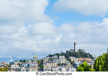 Coit Tower in Telegraph Hill, San Francisco