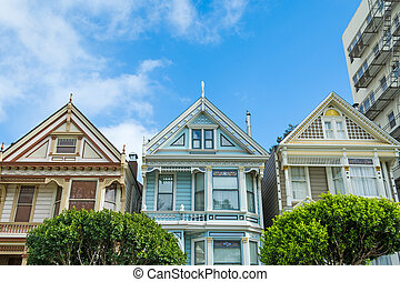 world famous painted ladies in San Francisco, California