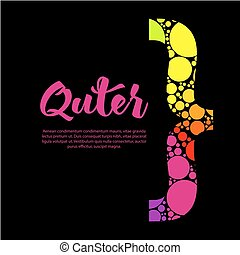 Abstract rainbow text box design with colorful bracket and...
