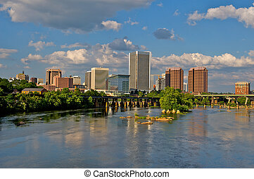 Richmond, Virginia Cityscape - Cityscape of Richmond,...