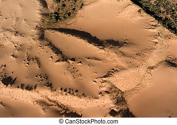 Aerial view of sand dunes - South Africa