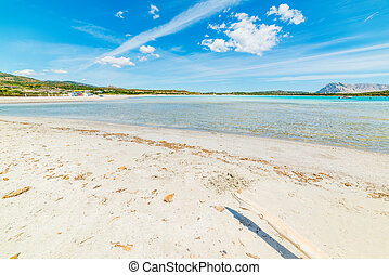 white sand in Lu Impostu beach, Sardinia