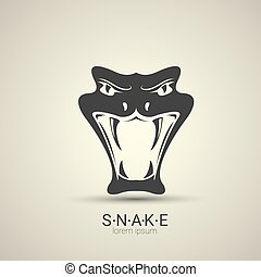 vector angry dangerous snake logo design template. danger...