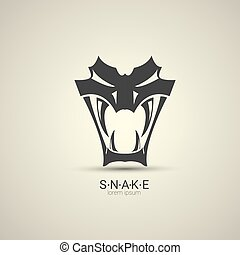 vector angry dangerous snake logo design template. danger...