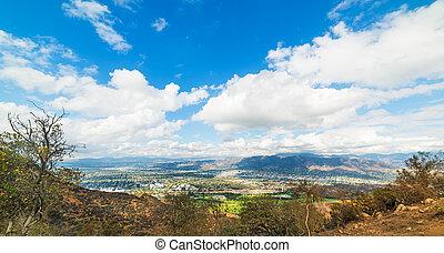 San Fernando Valley seen from Mount Lee, California