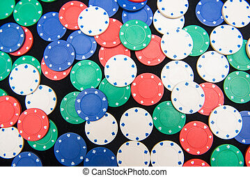 casino chips for play in casino , gambling