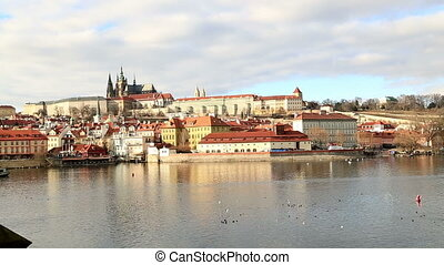 Cityscape of old Prague - Panoramic view of Historical...
