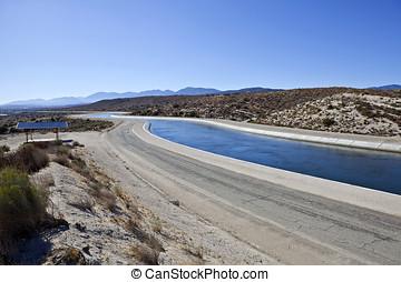 California Aquaduct - The California Aqueduct, 273 miles...