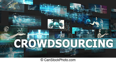 Crowdsourcing Presentation Background with Technology...