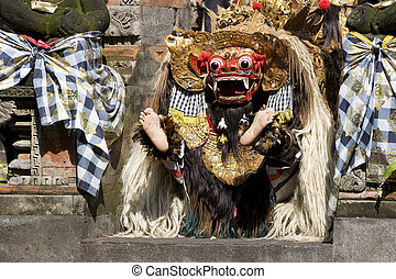 Barong Dance, Bali, Indonesia - Image of a scene from the...