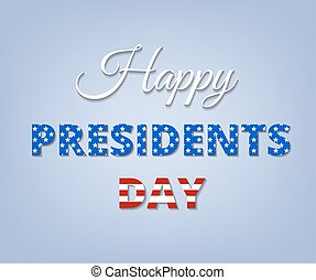 president day - Happy Presidents Day Greeting Card with USA...