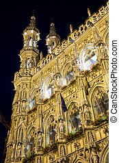 City Hall Leuven - The old city hall building of Leuven,...