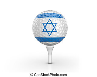 Golf ball Israel flag