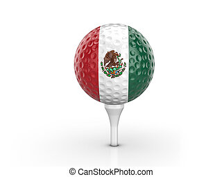 Golf ball Mexico flag