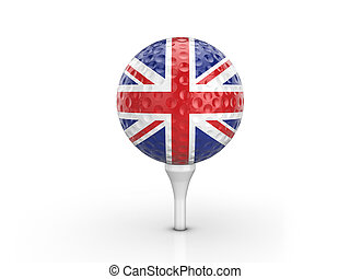 Golf ball UK flag
