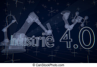 Industrie 4.0 (Industry 4.0) transparent robots