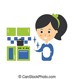 Cleanup Service Maid And Clean Kitchen, Cleaning Company...