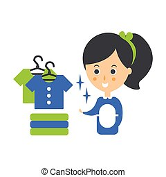 Cleanup Service Maid And Clean Clothes, Cleaning Company...