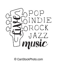 Pop, Rock, Indie, Jazz Live Music Concert Black And White...