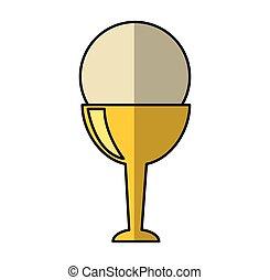 first communion chalice icon vector illustration design