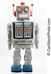 robot - retro robot toy