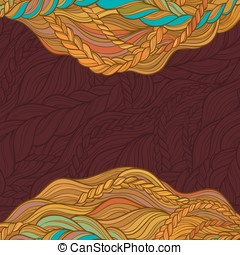 abstract vector backgroung - braid hair vector pattern on...