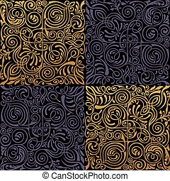 Seamless islamic floral pattern. Vintage gold ornament....