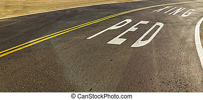 Ped Xing written on the road in California