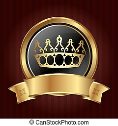 Golden Crown in the circle