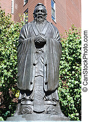 Confucius Statue - Statue of Confucius in Chinatown, New...