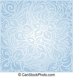 Blue floral vector invitation decorative background