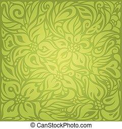 Green Retro vintage wallpaper vector design background