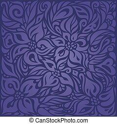 Violet purple Floral  vintage seamless pattern background`