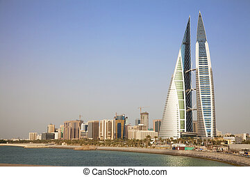 Manama, Bahrain - Image of Bahrains capital city, Manama,...