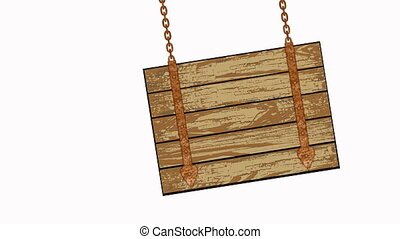wooden planks with chains - square wooden planks...