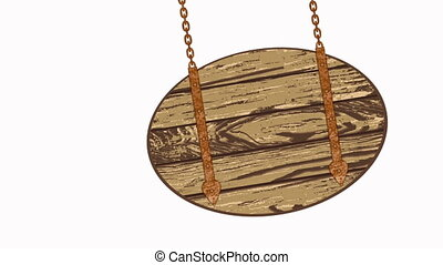 wooden planks with chains