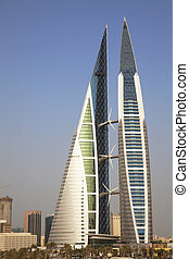 Bahrain World Trade Center, Manama, Bahrain - Image of...