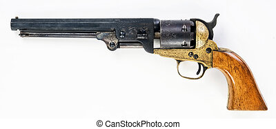 Old Cowboy Pistol. - Old western cowboy pistol with room for...