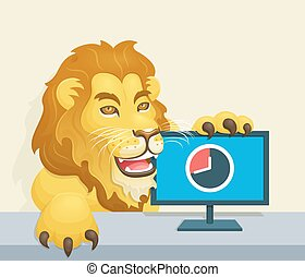 The lion - Brazilian Famous Income Tax Concept - Lion beside...
