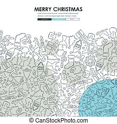 Christmas Doodle Website Template Design