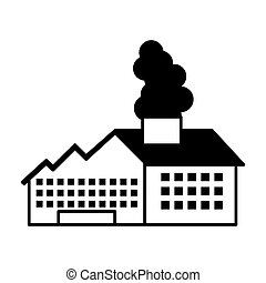 factory building with smoke icon