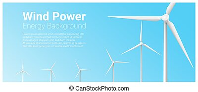Energy concept background with wind turbine 5