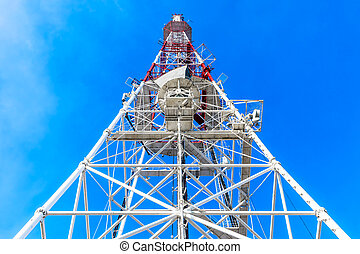 Wireless communication tower - Creative abstract wireless...