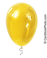 Yellow inflatable air balloon