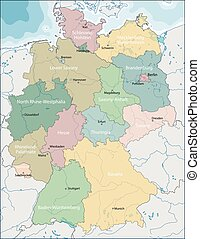Map of Germany - The Federal Republic of Germany is a...