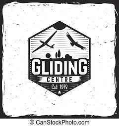 Vector Gliding club retro badge. - Gliding centre retro...
