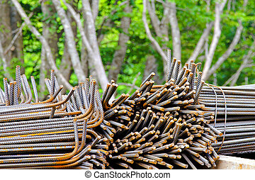 Iron and tree - Wire of iron bar for reinforcement concrete