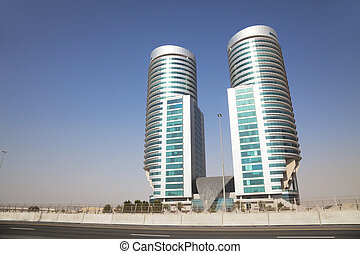 Modern Building in the Desert, Dubai, UAE - Image of a...